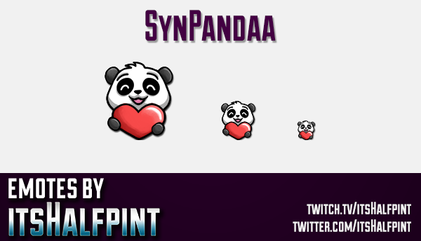 SynPandaa | Twitch Emotes | Cute Emotes | Custom Twitch Emotes | Emote Commissions | itsHalfpint | M