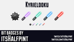 Kyrieldoku    Twitch Sub Badges   Beat Saber