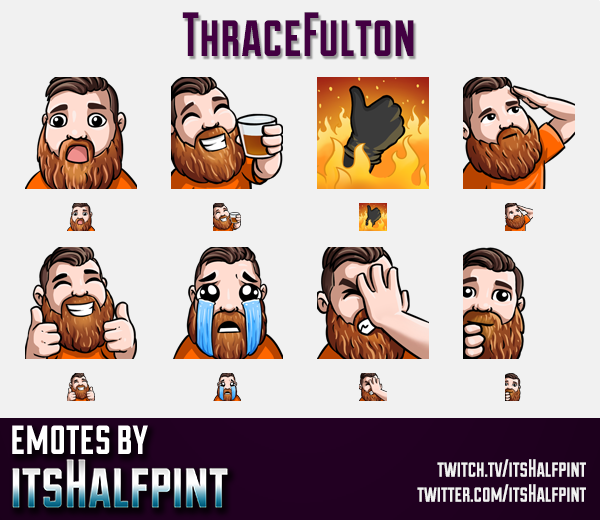 ThraceFulton | Twitch Emotes | Cute Emotes | Custom Twitch Emotes | Emote Commissions | itsHalfpint