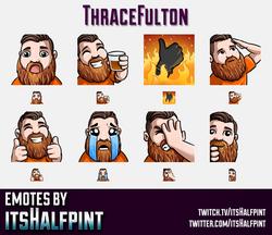 ThraceFulton | Twitch Emotes | Cute Emotes | Custom Twitch Emotes | Emote Commissions | itsHalfpint