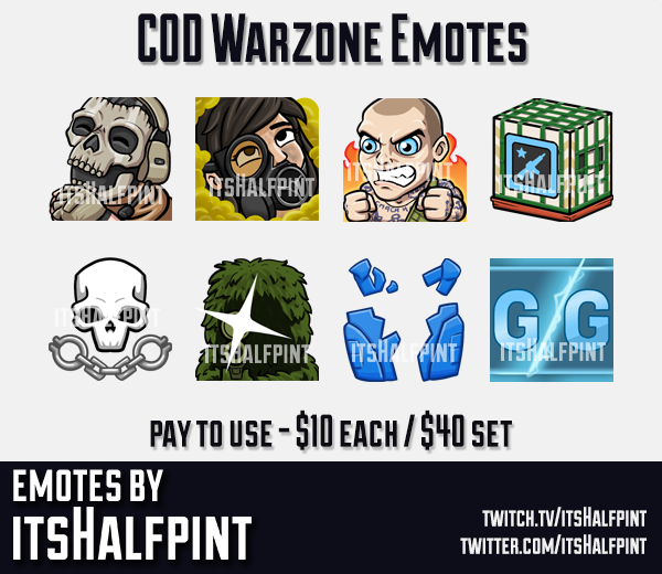 COD Warzone | Twitch Emotes | Cute | Custom | Commissions | itsHalfpint