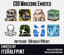 COD Warzone | Twitch Emotes | Cute | Custom | Commissions | itsHalfpint