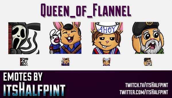Queen_of_Flannel | DBD Emotes  | Twitch Emotes | Cute Emotes | Custom Twitch Emotes | Emote Commissi