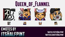Queen_of_Flannel | DBD Emotes  | Twitch Emotes | Cute Emotes | Custom Twitch Emotes | Emote Commissi