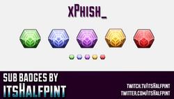 xPhish_- sub badges twitch emotes destiny 2 engrams cool