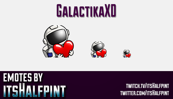 GalactikaXD | Twitch Emotes | Cute Emotes | Custom Twitch Emotes | Emote Commissions | itsHalfpint |