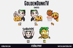 GoldenDunkTV - twitch emotes basketball duck hype gg bot