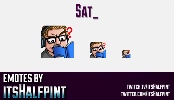 Sat | Twitch Emotes | Cute Emotes | Custom Twitch Emotes | Emote Commissions | itsHalfpint | Mixer E