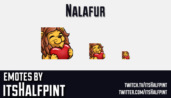 Nalafur | Twitch Emotes | Cute | Custom | Commissions | itsHalfpint