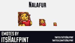 Nalafur | Twitch Emotes | Cute | Custom | Commissions | itsHalfpint