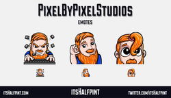 PixelByPixel | itsHalfpint emote artist| Twitch Emotes | Cute | Custom | Commissions | Marbles on st