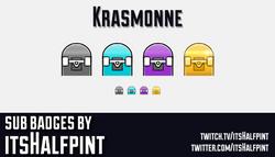 Krasmonne   Twitch Sub Badges   Bit Badg