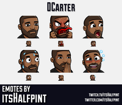 DCarter | Twitch Emotes | Cute | Custom | Commissions | itsHalfpint
