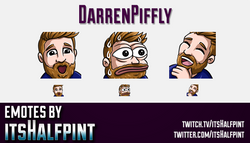 DarrenPiffly  | Twitch Emotes | Cute Emotes | Custom Twitch Emotes | Emote Commissions | itsHalfpint