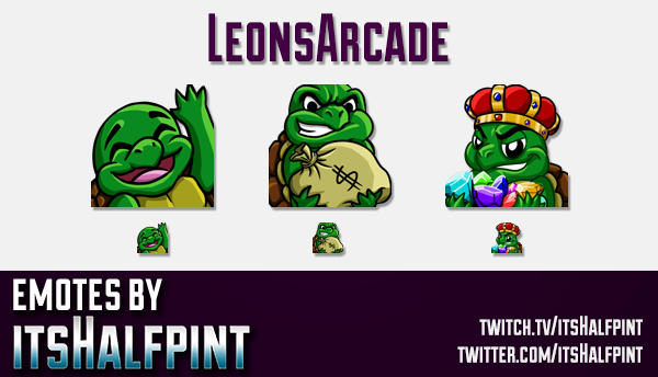 LeonsArcade  | Twitch Emotes | Cute Emotes | Custom Twitch Emotes | Emote Commissions | itsHalfpint