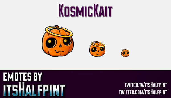 KosmicKait  | Twitch Emotes | Cute Emotes | Custom Twitch Emotes | Emote Commissions | itsHalfpint |