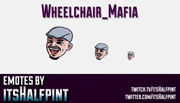 Wheelchair_Mafia | Twitch Emotes | Cute Emotes | Custom Twitch Emotes | Emote Commissions | itsHalfp