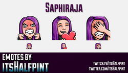 Saphiraja  | Twitch Emotes | Cute Emotes | Custom Twitch Emotes | Emote Commissions | itsHalfpint |