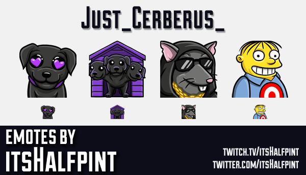 Just_Cerberus_ | Twitch Emotes | Cute Emotes | Emote Commissions | itsHalfpint