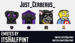 Just_Cerberus_ | Twitch Emotes | Cute Emotes | Emote Commissions | itsHalfpint