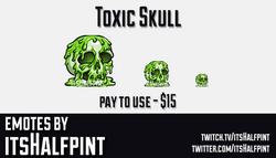ToxicSkull  | Twitch Emotes | Cute Emotes | Custom Twitch Emotes | Emote Commissions | itsHalfpint |