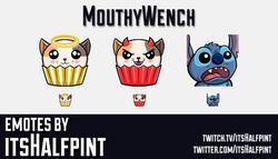 MouthyWench | Lilo Stitch | Twitch Emotes | Cute | Custom | Commissions | itsHalfpint
