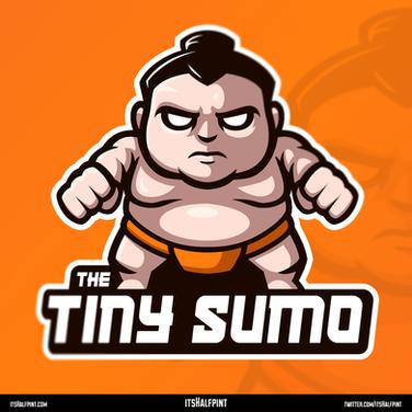 TheTinySumo- Mascot Logo Esports Illustration Vector Sumo Cute Cool