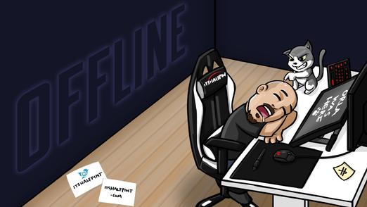 itsHalfpint twitch screens offline brb twitch emote artist | sub bit badge | avatar logo illustration | custom