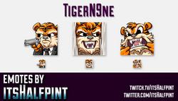 TigerN9ne  | Twitch Emotes | Cute Emotes | Custom Twitch Emotes | Emote Commissions | itsHalfpint |