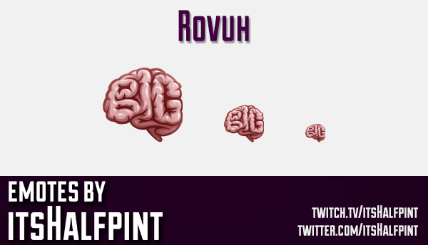 Rovuh | Twitch Emotes | Cute Emotes | Custom Twitch Emotes | Emote Commissions | itsHalfpint | Mixer