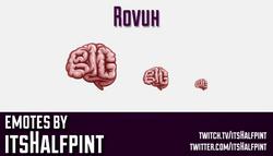 Rovuh | Twitch Emotes | Cute Emotes | Custom Twitch Emotes | Emote Commissions | itsHalfpint | Mixer