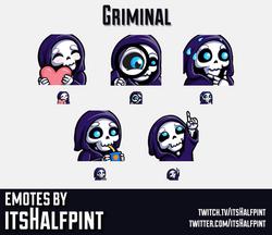 Griminal | Twitch Emotes | Cute Emotes | Custom Twitch Emotes | Emote Commissions | itsHalfpint | Mi