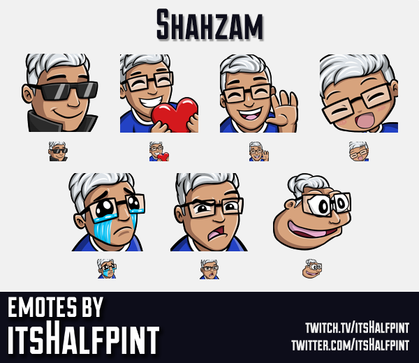 Shahzam | Twitch Emotes | Cute | Custom | Commissions | itsHalfpint