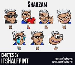 Shahzam | Twitch Emotes | Cute | Custom | Commissions | itsHalfpint