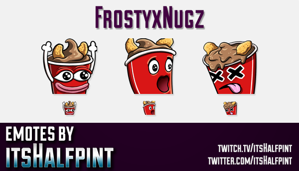 FrostyxNugz | Twitch Emotes | Cute Emotes | Custom Twitch Emotes | Emote Commissions | itsHalfpint |