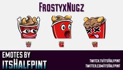 FrostyxNugz | Twitch Emotes | Cute Emotes | Custom Twitch Emotes | Emote Commissions | itsHalfpint |