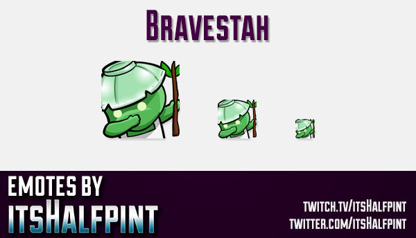 Bravestah | Twitch Emotes | Cute Emotes | Custom Twitch Emotes | Emote Commissions | itsHalfpint | M