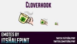 Cloverhook | Twitch Emotes | Cute Emotes | Custom Twitch Emotes | Emote Commissions | itsHalfpint |