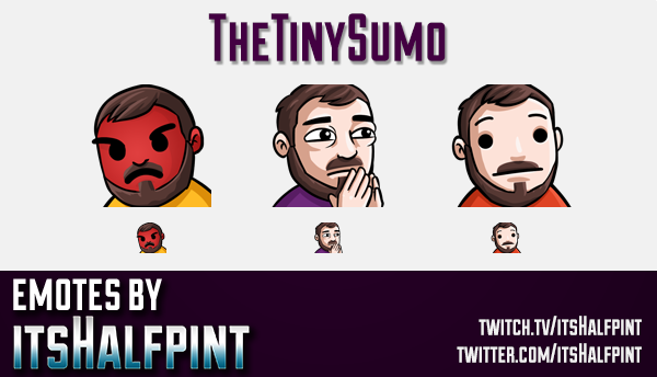 TheTinySumo  | Twitch Emotes | Cute Emotes | Custom Twitch Emotes | Emote Commissions | itsHalfpint