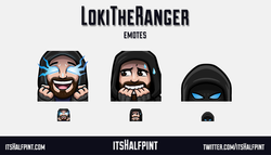 LokiTheRanger | itsHalfpint emote artist| Twitch Emotes | Cute | Custom | Commissions lurk hype nerv