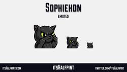 Sophiehdn cute cat fight | itsHalfpint emote artist| Twitch Emotes | Cute | Custom | Commissions