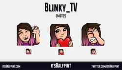Blinky_TV - cute twitch emote love fail facepalm wave girl