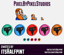 PixelByPixel | Marbles on Stream  | Twitch Emotes | Cute Emotes | Custom Twitch Emotes | Emote Commi