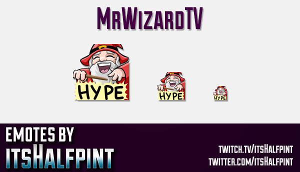 MrWizardTV | Twitch Emotes | Cute Emotes | Custom Twitch Emotes | Emote Commissions | itsHalfpint |