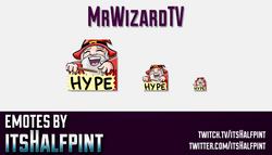 MrWizardTV | Twitch Emotes | Cute Emotes | Custom Twitch Emotes | Emote Commissions | itsHalfpint |