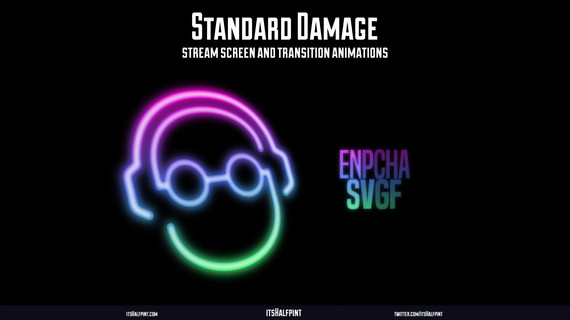 StandardDamage- Logo Design Animation Motion Graphics Twitch Starting Soon Ending Screen Transitions