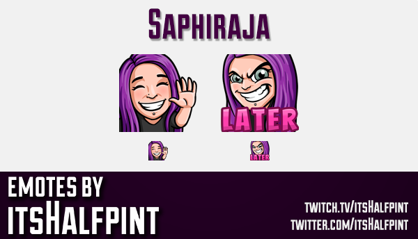 Saphiraja  | Twitch Emotes | Cute Emotes | Custom Twitch Emotes | Emote Commissions | itsHalfpint |