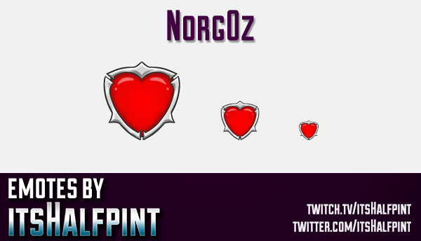 Norgoz | Twitch Emotes | Cute Emotes | Custom Twitch Emotes | Emote Commissions | itsHalfpint | Mixe