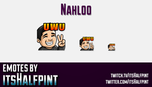 Nahloo | Twitch Emotes | Cute Emotes | Custom Twitch Emotes | Emote Commissions | itsHalfpint | Mixe