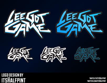 LeeGotGame- Logo Design Text Cyberpunk Futuristic Wordmark